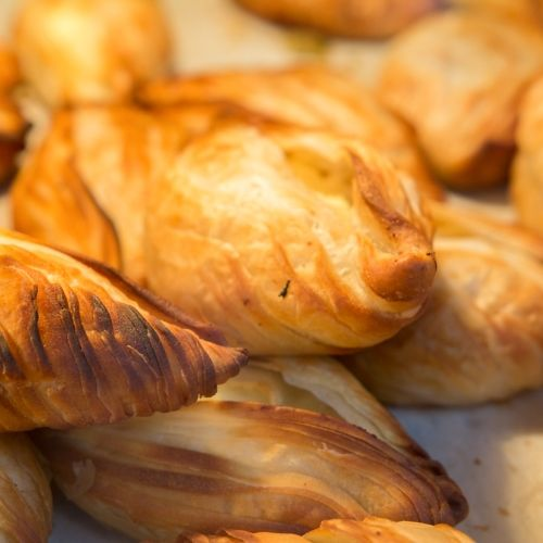 Puff pastry pastizzi a local culinary speciality in Malta