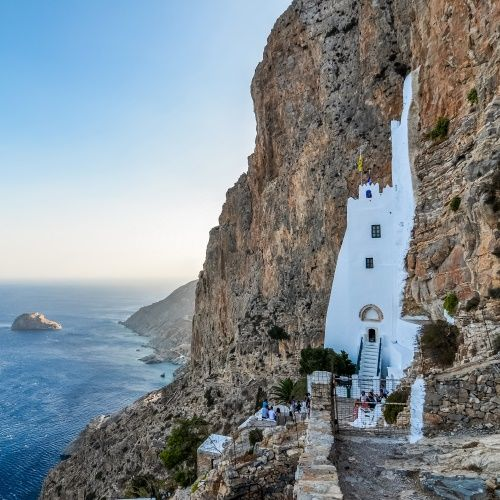 The monastery of Hozoviotisa on the island of Amorgos in the Cyclades in Greece