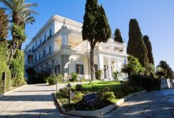 The neoclassical Pompeian-style Achilleion palace on the island of Corfu