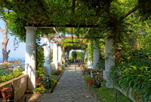 The gardens of Villa San Michele in Anacapri