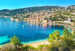 The bay of Villefranche-sur-mer in the south of France