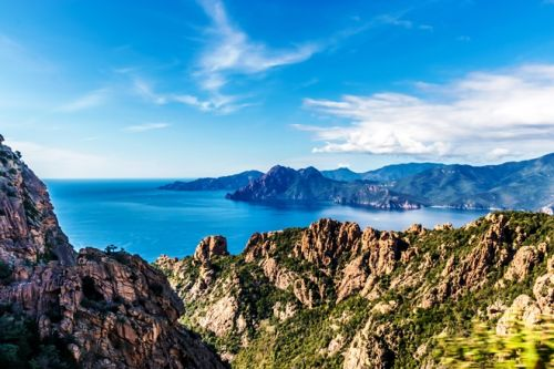 The cliffs of the Gulf of Porto in Corsica
