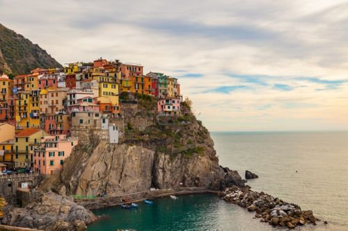 The colourful village of Manarola in the Cinque Terre National Park, one of the UNESCO sites in the Mediterranean