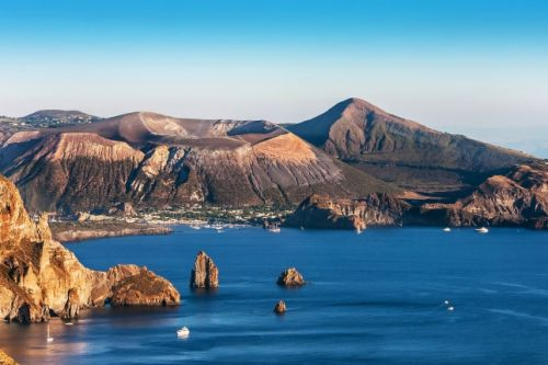 Lipari, one of the Aeolian Islands in Italy