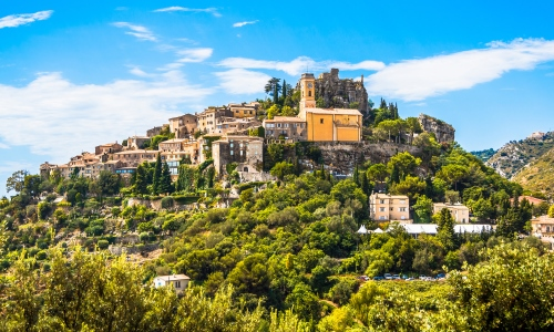 The hilltop village of Eze in the hinterland of Nice
