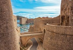 The ramparts in the old city of Dubrovnik in Croatia