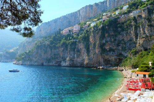 The bay of La Mala in Cap d'Ail on the French Riviera