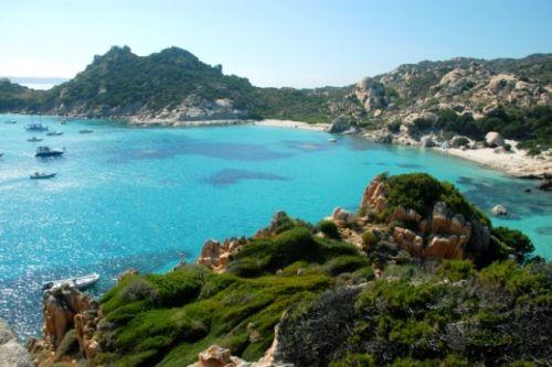 The beach of Cala Soraja in the Maddalena archipelago in Sardinia