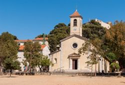 The Sainte-Anne church located on the island of Porquerolles in the south of France