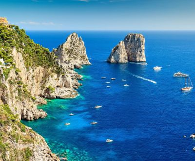 The Faraglioni rocks on the island of Capri