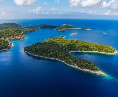 View of Mljet National Park near Dubrovnik during a Croatia yacht charter