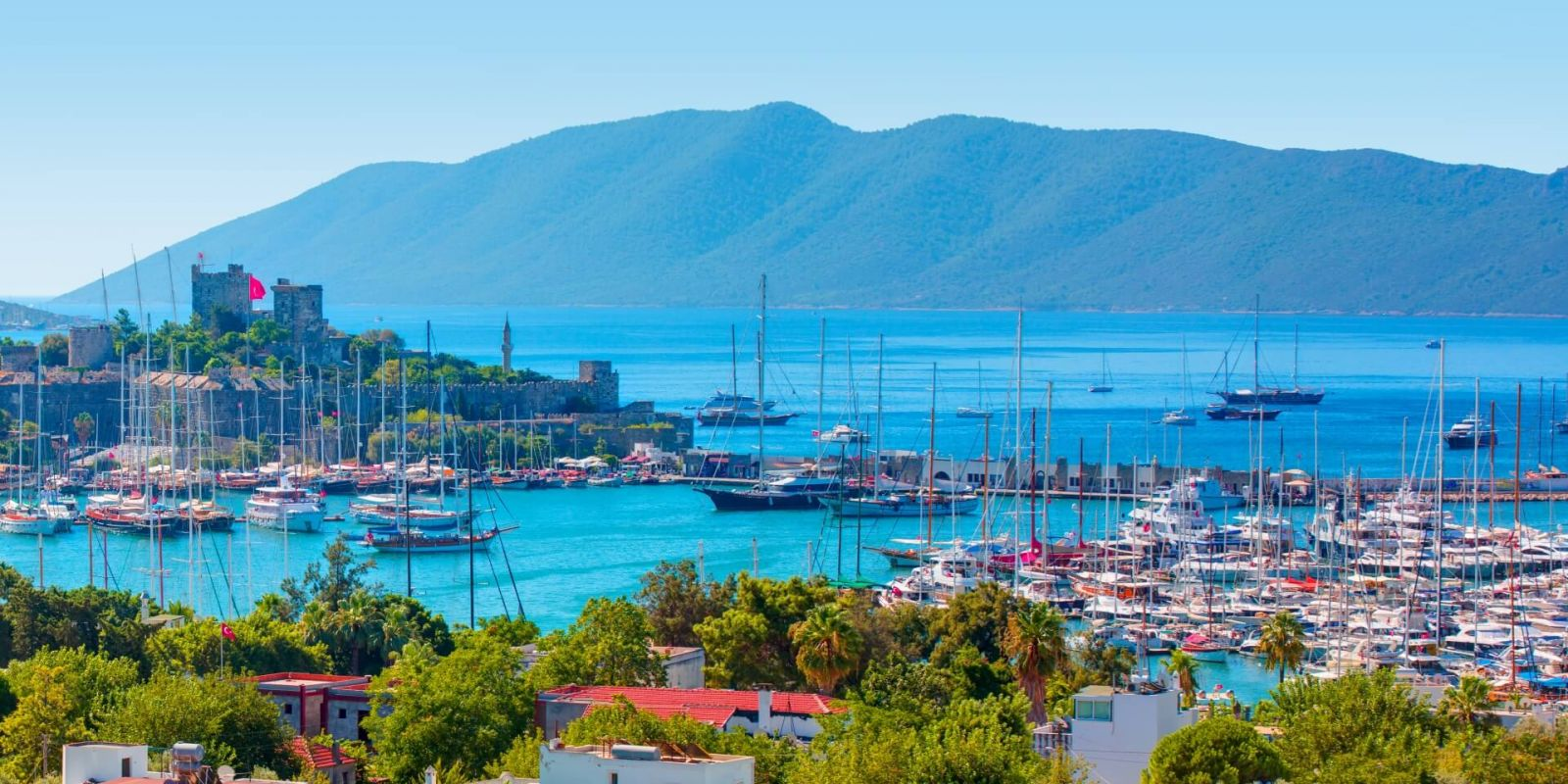 https://www.talamare.com/medias/Panorama of Bodrum with its castle and marina in the Aegean sea during a Turkey yacht charter