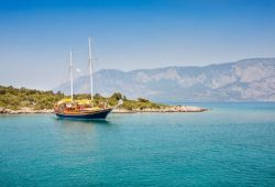 A gulet yacht for charter in Turkey on the Turkish Riviera