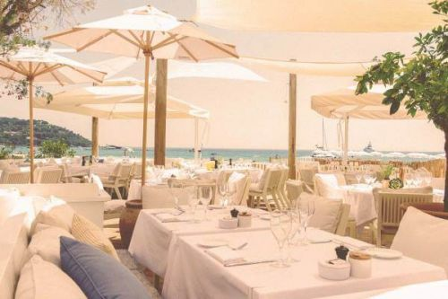 Lunch at Loulou Ramatuelle beach club restaurant in St Tropez
