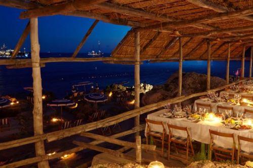 La Fontelina, Mediterranean beach club restaurant in Capri