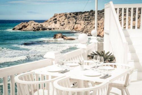 Cotton beach club restaurant in Ibiza in the Balearic Islands