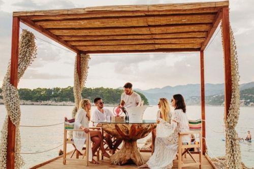 Coral Beach Club and restaurant in Dubrovnik in Croatia