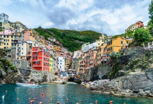 The fishing village of Riomaggiore in the Cinque Terre