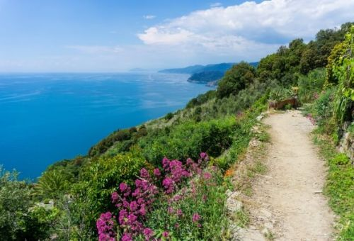 The coastal path is ideal for hiking in the Cinque Terre