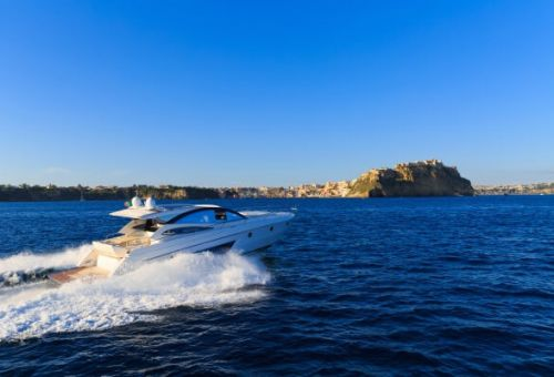 A luxury motor yacht for charter cruising in the Cinque Terre