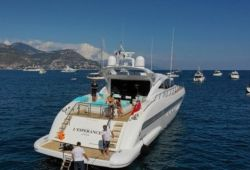 Mangusta 92 boat for charter French Riviera - aft deck