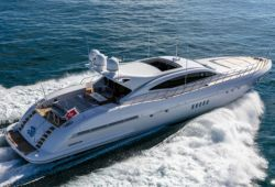 Mangusta 108 yacht for charter French Riviera - cruising in the south of France