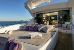 Mangusta 108 boat for charter French Riviera - aft deck