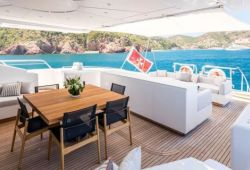 Mangusta 130 boat for charter French Riviera - aft deck