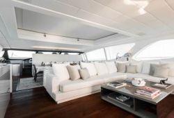 Mangusta 130 yacht rental French Riviera - salon