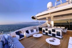Mangusta 165E boat for charter French Riviera - aft deck