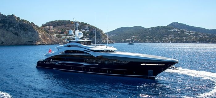 A superyacht for charter cruising on the French Riviera