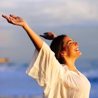A charter guest enjoying the Mediterranean sun during a yacht charter holiday