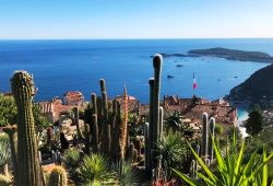 The exotic garden of Eze with a panoramic view of the Mediterranean