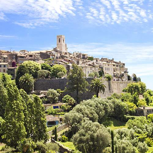 The village of Saint-Paul-de-Vence in the south of France countryside